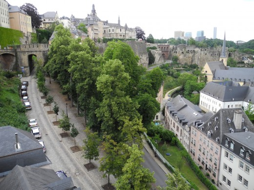 Upper and Lower Cities of Luxembourg