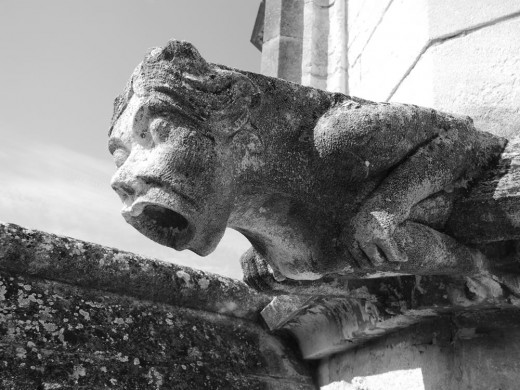 Gargoyle on the Chateau des Papes in Avignon