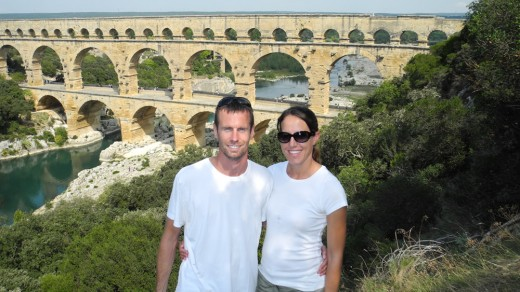 Checking out the Pont du Gard