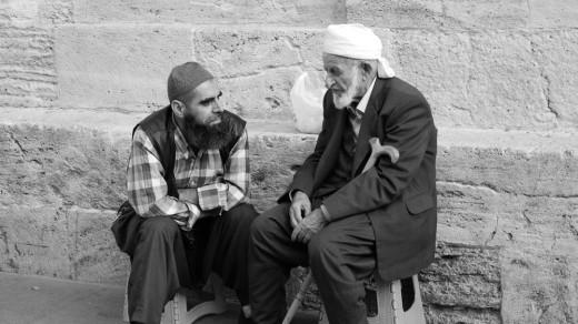 Istanbul locals conversing
