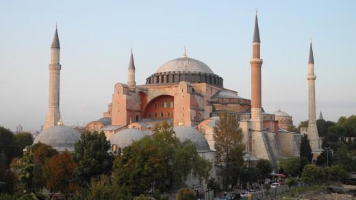The impressive Hagia Sophia in Istanbul