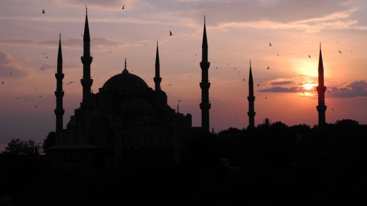 Blue Mosque at sunset