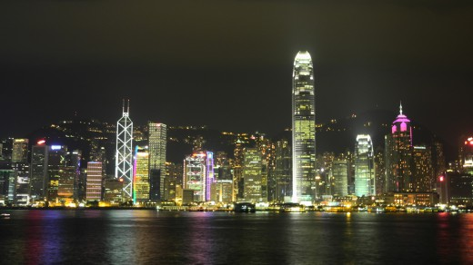 Central Hong Kong, seen from Kowloon