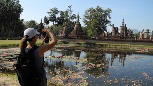 Robin snaps a picture in Sukhothai