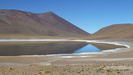 Altiplano lake in the Atacama Desert
