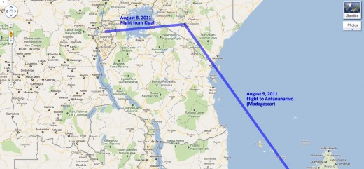 Our route through Kenya
