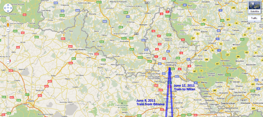 Map of Our Route Through Luxembourg