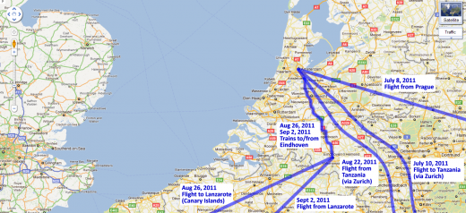 Our route through the Netherlands