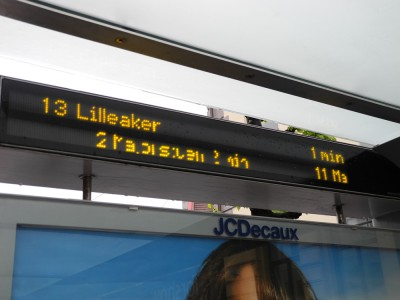 LED display in bus stops