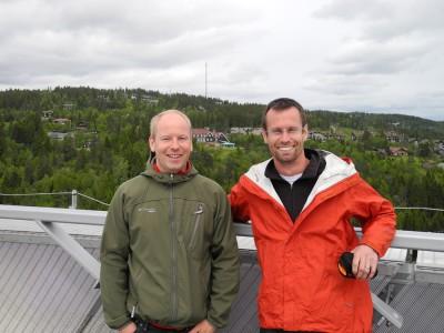 Eirik & Pierre on top of the ski jump
