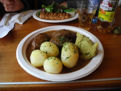 The local cuisine that Pierre sampled on the train. He was less than enthused.