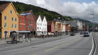 Bergen's harbor, called Bryggen.