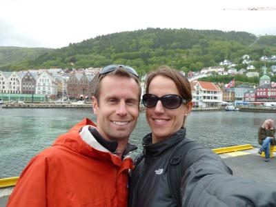 Self-portrait in Bergen during a break from the rain.