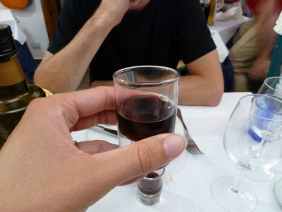 One of my favorite things about Italy was the variety of post-meal drinks the waiters would bring us. I think this was a special Cinque Terre brand of amari, but I can't remember.