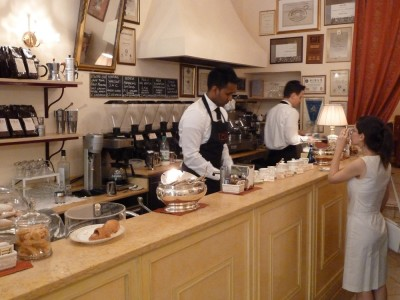 Terzi in Bologna. Total coffee heaven. The owner had diplomas on the wall stating that he was a master of lattes and cappuccinos. No joke!