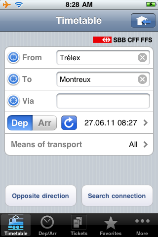 Swiss Train Ticket App