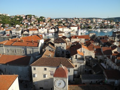 Trogir, as seen from the bell tower (which I was too chicken to climb in my flip-flops).