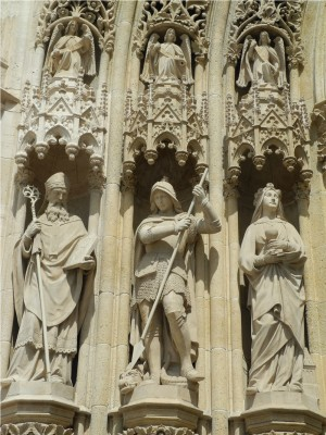 Detail from Zagreb's cathedral.
