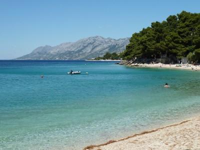 Brela beach.
