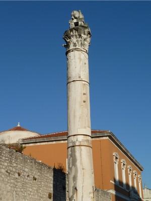 Roman column/tower in Zadar
