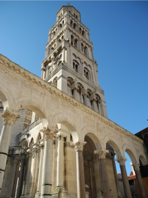 Main tower in Diocletian's Palace in Split