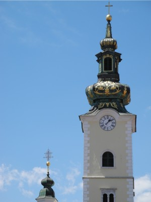 Church towers in Zagreb