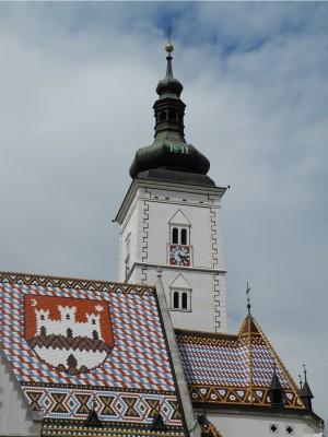 Church steeple in Zagreb