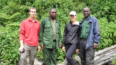 Us with our guides, Eugene (on the right) and Unfortunate Man (who still looks a little traumatized).