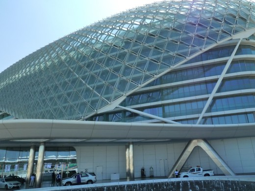 The Yas Hotel in the daytime
