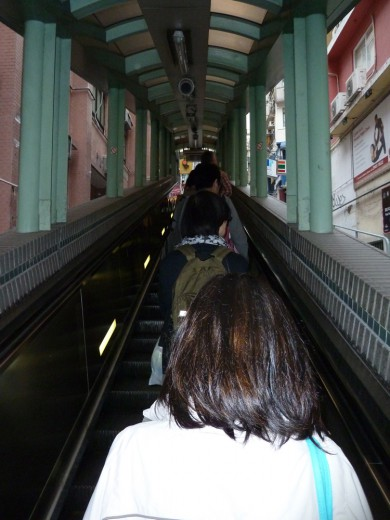 Outdoor Escalators in Central Hong Kong