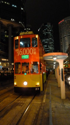 Double-decker streetcars -- I'm sure we can thank the Brits for these.