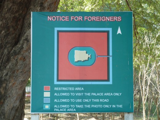 A warning to foreigners. Signs like these were some of the few reminders that we were supposedly traveling in a police state.
