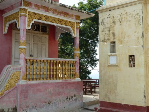 I loved these faded buildings on the top of Sagaing Hill.