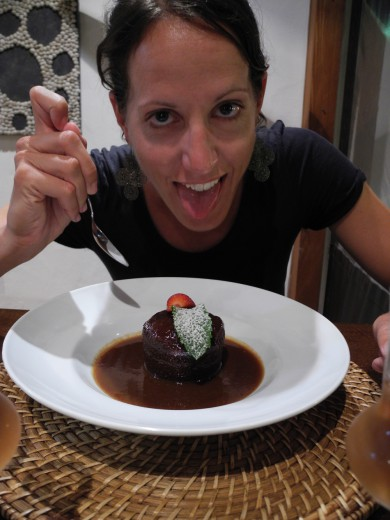 Ready to really, really enjoy my sticky toffee pudding in Lanzarote.