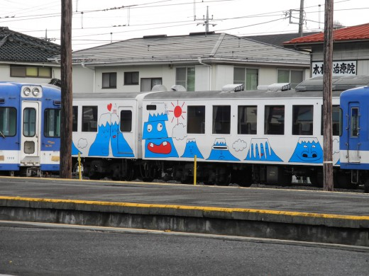 Mt. Fuji express at the Kawaguchiko train station