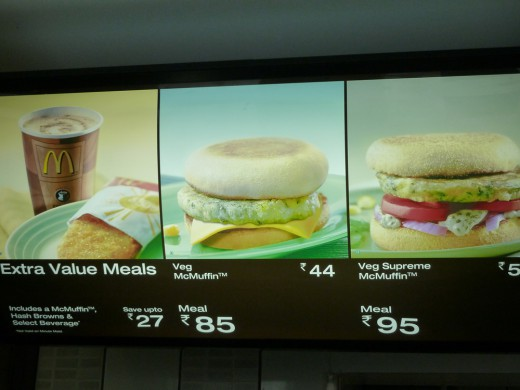 Even McDonald's wasn't off-limits in India.