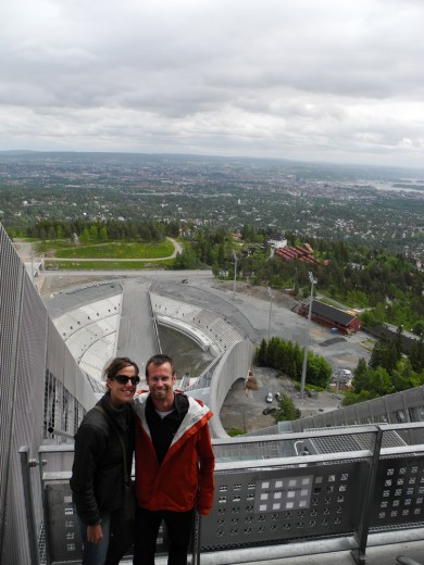 Pierre and I atop Holmenkollen.