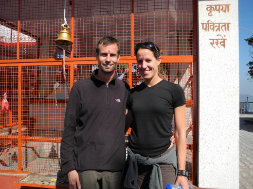 We didn't go to an ashram, but we couldn't avoid getting a little spiritual.