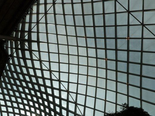 A work of art in itself: The atrium roof at the National Portrait Gallery.