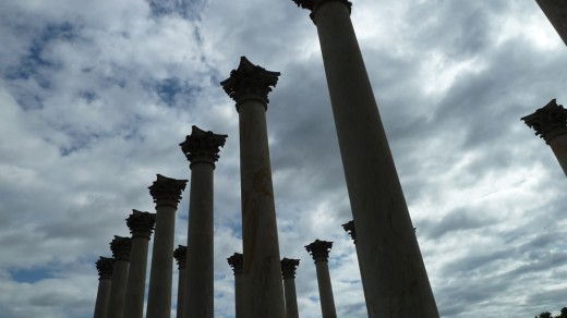 Discarded columns given new life in the National Arboretum.